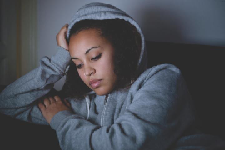 depressed hoodie